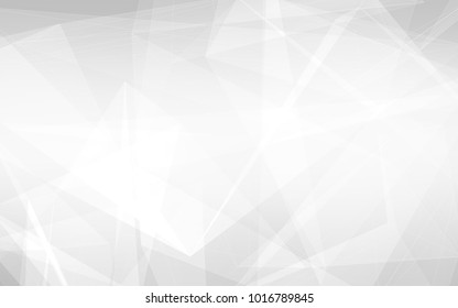 Abstract white and gray polygon triangle pattern background. 3d render illustration