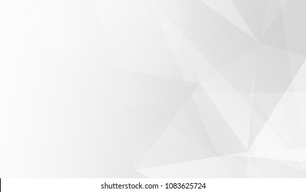 Abstract white and gray polygon triangle pattern gradient background. 3d render illustration.