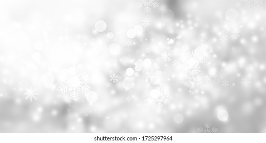 abstract white and gray snow blur background.