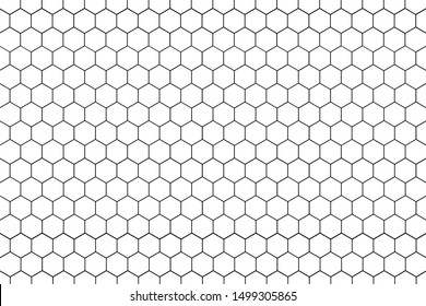 Abstract White Hexagonal net Seamless . Pattern honeycomb of texture background