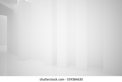 Abstract white interior highlights future. Architectural background. 3D illustration and rendering - Shutterstock ID 559384630
