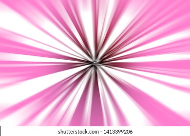 abstract  white line move to blackhole  on pink background