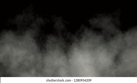 Abstract white texture. Smoke motion background. Art textures. Abstract white smoke on black backdrop