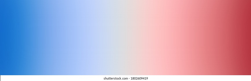 Abstract wide gradient background blank with Navy blue, White, Red color. Smooth degrade banner design.
