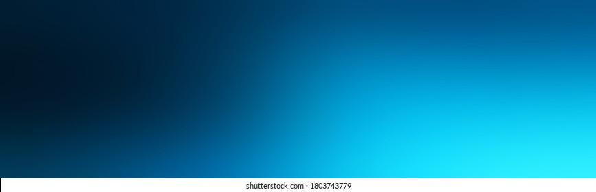 Abstrakter breiter Farbverlauf-Hintergrund leer mit Berliner Azurblau oder Prussisch Blau, Schwarz. Degarde glatte Textur Banner für Ihre Website.