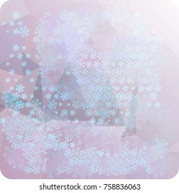 Abstract winter background with snowflakes. Beautiful layout for banners, postcards, covers and other artworks. Copy space. Raster clip art.