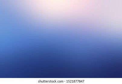 Abstract winter cold sky illustration. Rosy light on deep blue blurred background.