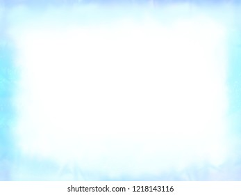 Abstract winter frame, white snow on a blue background, simple backdrop for text or design elements