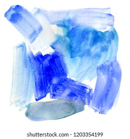 Abstract winter watercolor painting on paper background illustration