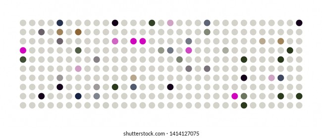 Abstract wonderful dot panorama background pattern