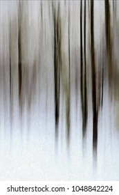 an abstract of the woods in winter transformed into digital art