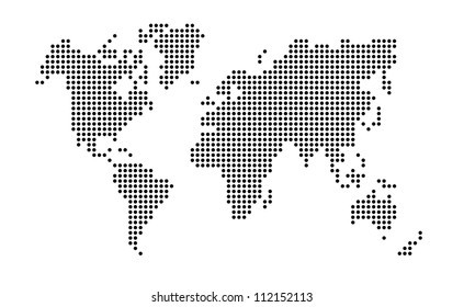 abstract the world map background
