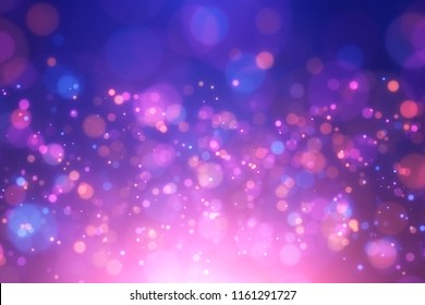 Abstract xmas festive background.Christmas blue and violet bokeh glitter lights. Backdrop for poster, brochure, flyer,  etc.