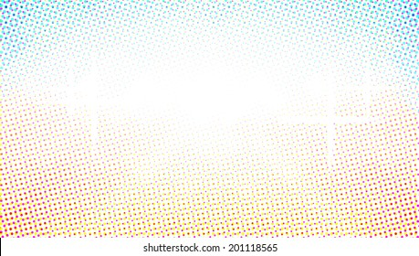 Abstract yellow blue background. Colorful abstract halftone background