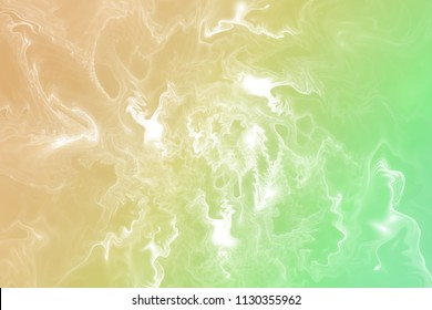 Abstract yellow and green marble texture. Fantasy fractal background. Digital art. 3D rendering.