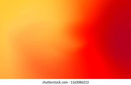 Abstract yellow orange and red soft cloud background in pastel colorful gradation.