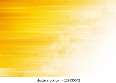 Abstract yellow technology background.