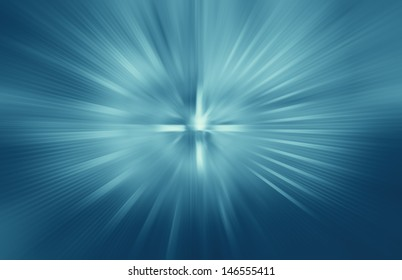 abstract zoom blue background