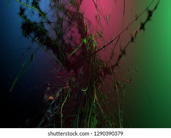 abstraction 3d illustration