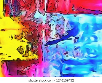 Abstraction painted in oil. Colorful texture background. Multicolored wallpaper graphic design. Pattern for creating artworks and prints.