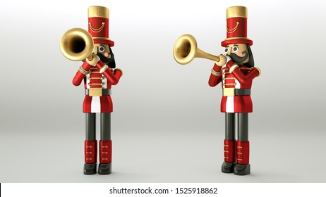 abstractNutcracker Christmas Soldier Character Isolated on White