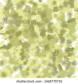 abstrak art with green and yellow