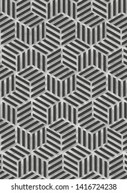 Abstrakt Cubic Pattern. Web Banner Pattern.