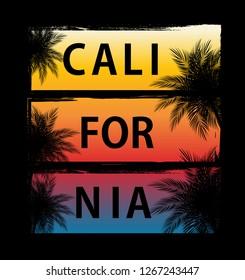 Abstrat California Palm Background  Illustration