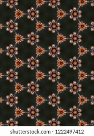 Abstrat seamless fractal pattern with spirals in a darl colors for design