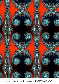 Abstrat seamless fractal pattern with spirals for design