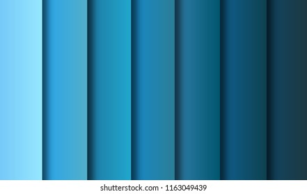 abtract blue shade gradient background, illustration, paper art style