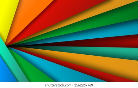 abtract colorful background, illustration, paper art style