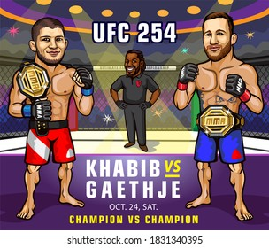 Abu Dhabi, United Arab Emirates. October 24, 2020. UFC 254: Khabib vs. Gaethje is an upcoming mixed martial arts event produced by the Ultimate Fighting Championship.