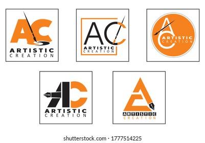 AC Logo concept design or artistic logo design concepts