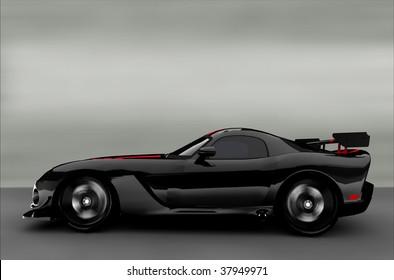Acceleration - Black Sportscar / Sports car