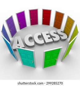 Access open doors for admission or entry to exclusive areas or events you want to attend or enter