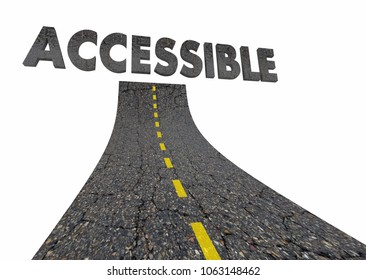 Accessible Road Travel Easy Access Street Word 3d Illustration