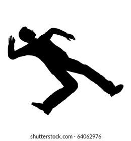 Accident person pose silhouette illustration