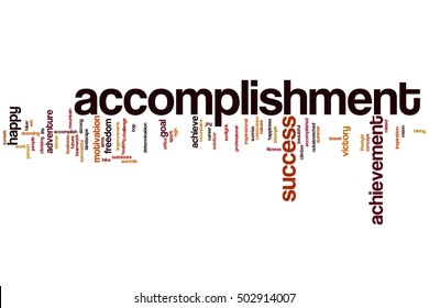 Accomplishment word cloud concept