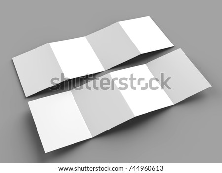 accordion fold brochure eight pages four stock illustration