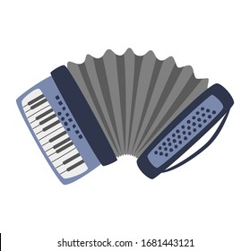 Accordion on the white background.