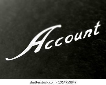 Account. 3D Illustration.