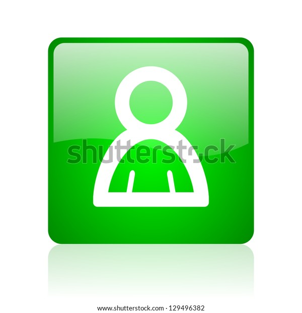 account green square web icon on white background