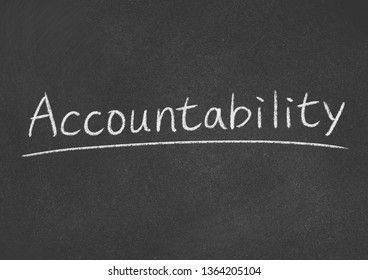 accountibility concept word on a blackboard background