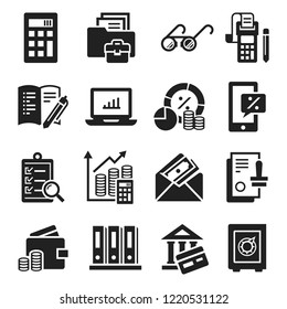 Accounting international day icon set. Simple set of accounting international day icons for web design on white background