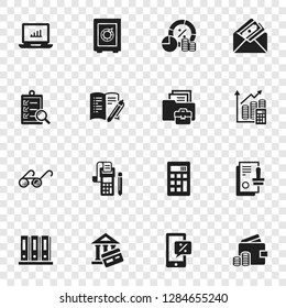 Accounting international day icon set. Simple set of accounting international day icons for web design