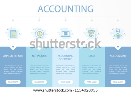 accounting web banner infographic concept template stock