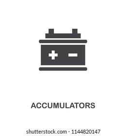Accumulators creative icon. Simple element illustration. Accumulators concept symbol design from car parts collection. Can be used for web, mobile, web design, apps, software, print