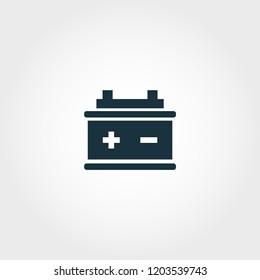 Accumulators icon. Premium quality element illustration from car parts collection. Accumulators monochrome icon. Perfect for web design and printing.