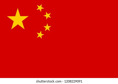 Accurate china flag classic red power stars